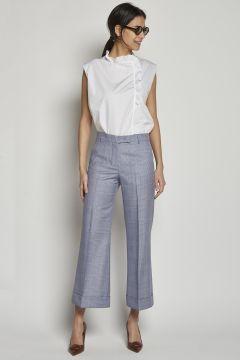 Pantalone blu con pinces