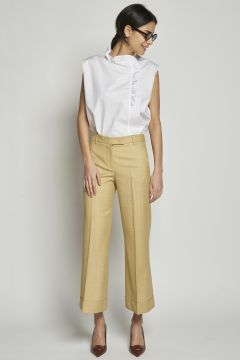 Pantalone zenzero con pinces