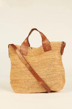 Tea Mety woven rafia bag