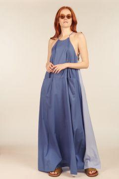 Mila long two-tone dress