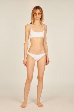 Michelle white two-piece bikini