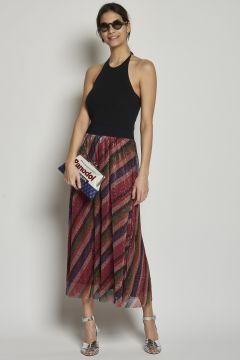 Multicolor skirt with elastic