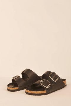 Black Arizona Big Buckle sandals