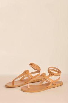 Beige thong sandals