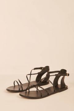 black sandal with thin straps