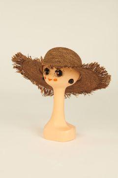 Dark tea Mirana straw hat