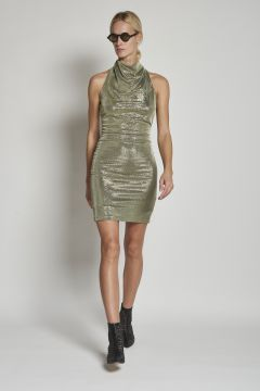 short metallic dress
