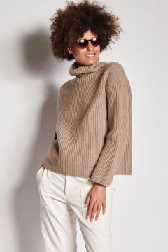 Cumin turtleneck in ribbed cashmere