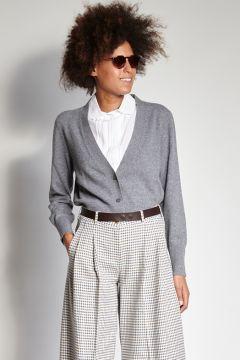 Gray cashmere cardigan