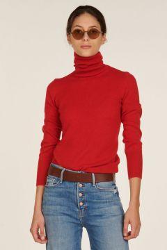 Red cashmere turtleneck