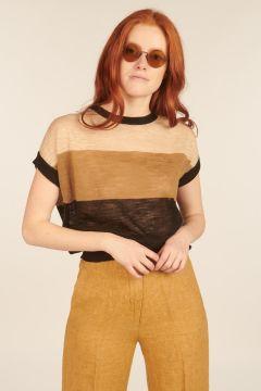 Striped Caserta Linen Top