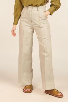 Pantaloni Gorizia in denim misto lino