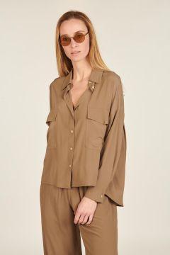 Bugola oversized chest pocket shirt