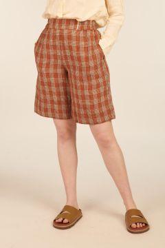 Biancospino Linen Bermuda Shorts
