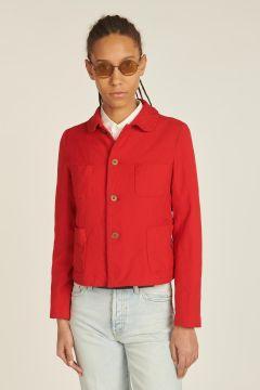 red jacket 4 pockets