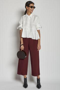 pantalone bordeaux con coulisse