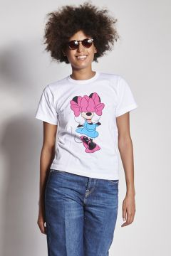 T-shirt con Minnie con fiocchi