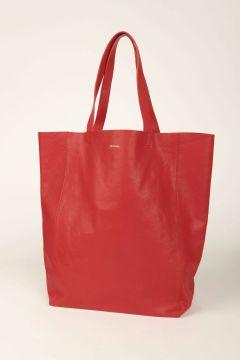 Borsa shopping Nirya in pelle rossa