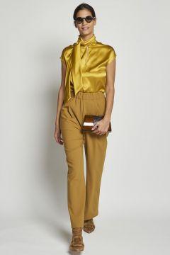 pantalone giallo con elastico