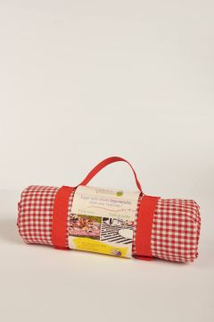 Vichy red picnic tablecloth