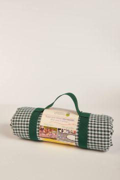 Vichy green picnic tablecloth
