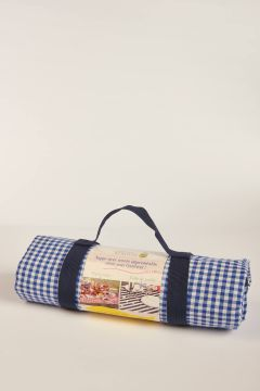 Vichy blue picnic tablecloth