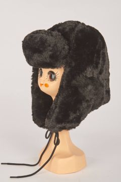 Black aviator hat