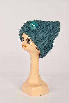 Green ribbed hat