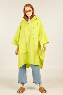 Lime Windbreaker Poncho Jacket