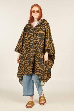 Zebra print windbreaker Poncho Jacket