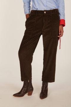 Pantalone moro in velluto Camille