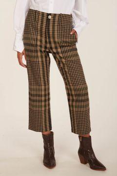 Camilla checked trousers
