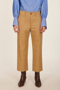 Pantalone a quadri in lana