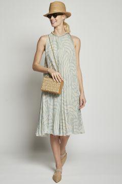 Midi plissè dress