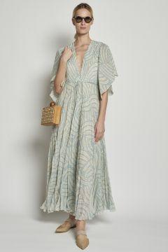 Plissè Long Dress