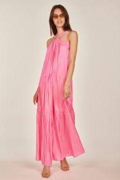 Fucsia Linette laminated dress