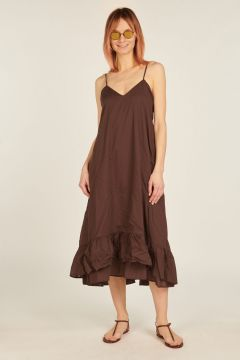 Brown Camelia dress