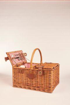 Vichy red picnic basket