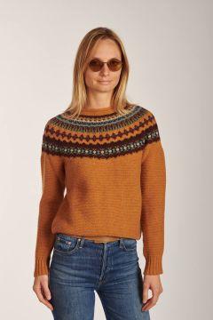 Rust pattern crewneck sweater