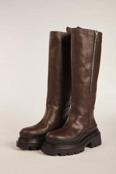 Stivali marrone suola carrarmato