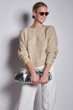 Cream lurex sweater