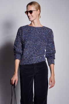 Blue lurex sweater