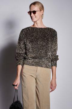 Black lurex sweater