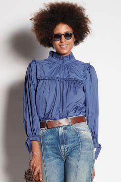 Bluette shirt with puffed sleeves