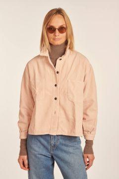 Giacca camicia Pilou rosa