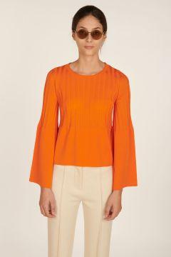 Giselle orange ribbed sweater