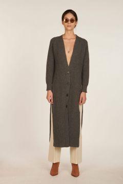 Marta long dark grey cardigan
