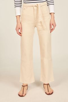 Ivory Sully trousers with belt