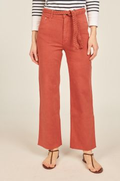 Red Sully trousers with belt