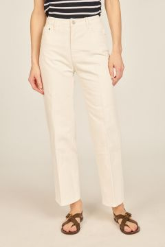 White Sully denim trousers